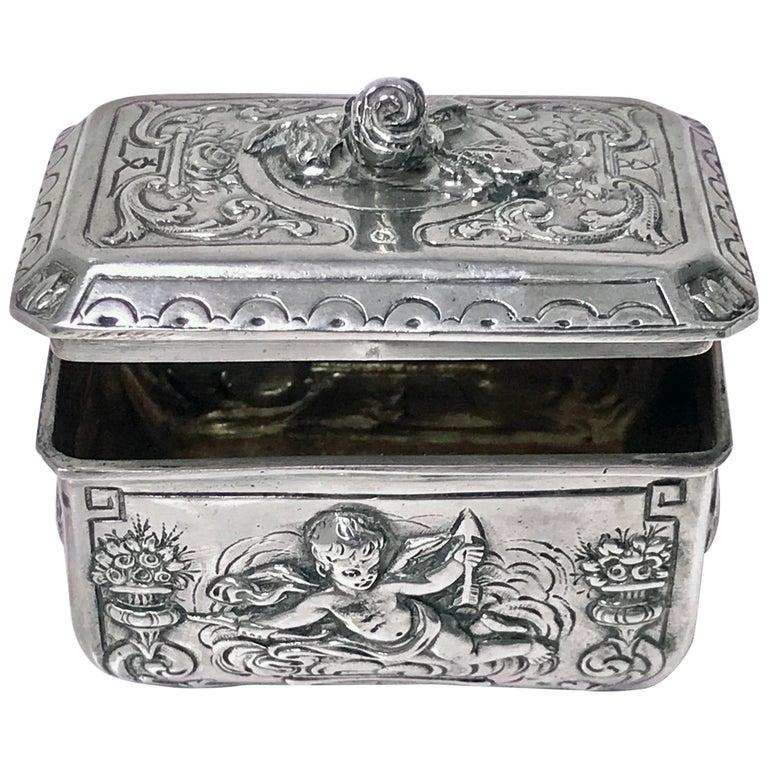 Antique Silver Box, Germany, circa 1900