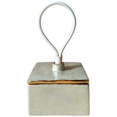 Decorative Ceramic Box with Gold and Opalescent Luster by Andrea Miranda Salas