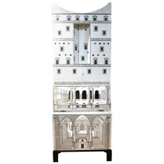 Fornasetti 'Architettura' Trumeau with Concave Top