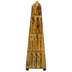 Painted Egyptian Obelisk