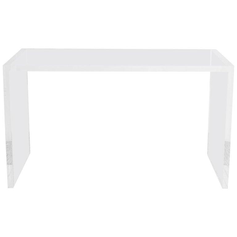Modern Minimalist Lucite Writing Table Desk