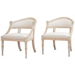 19th Century Swedish Gustavian Barrel Back Chairs