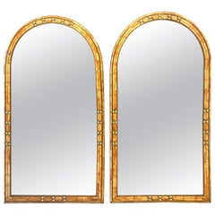 Palatial Moroccan Hollywood Regency Fashioned Wall Console or Pier Mirrors, Pair
