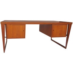 Danish Modern Executive Teak Desk by Kai Kristiansen