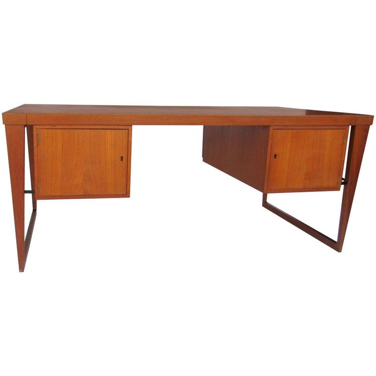 Danish Modern Executive Teak Desk by Kai Kristiansen