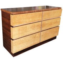 Eliel Saarinen Inspired Streamline Moderne Lowboy Dresser