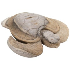 North American Moose Antler Carving of Turtle