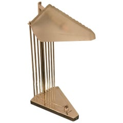 French Art Deco Desk Lamp Signed by Gênet et Michon