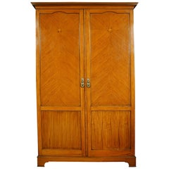 Satinwood Wardrobe by S & H Jewell