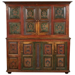 20th Century Eastern European Painted Cabinet