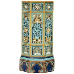 19th Century Doulton & Co. Majolica Stoneware Umbrella Stand