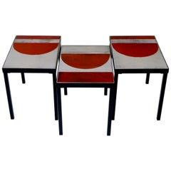 Roger Capron, Grouping of 3 Tables, France, circa 1965