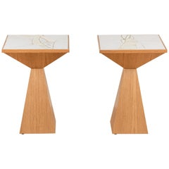 Pair of Collabs in Clay Side Table by John Sheppard for Lawson-Fenning