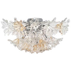 Italian Esprit Flush Mount by Venini
