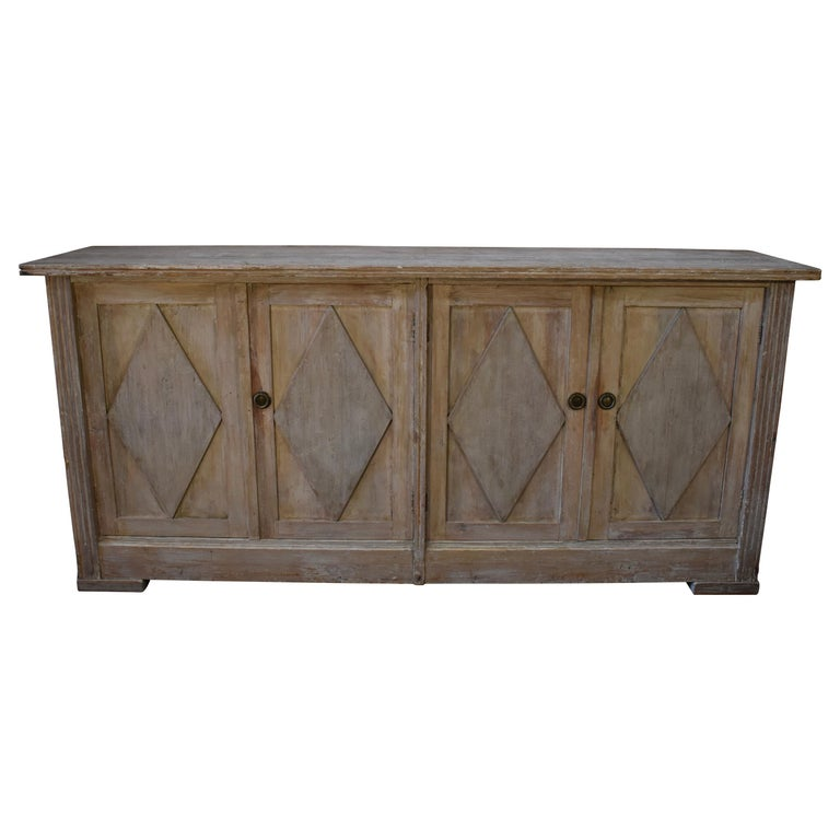19th Century Swedish Four-Door Sideboard or Enfilade