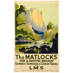 Original 1930s British Rail Poster for Travel to the Matlocks by Ayling
