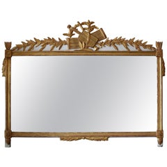 18th Century French Gilded Mantle Mirror
