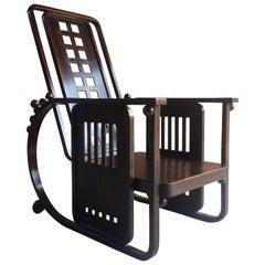 Josef Hoffmann Sitzmaschine Chair circa 1905 Austrian Rare Museum Quality