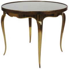 Midcentury Round Bronze Coffee Table