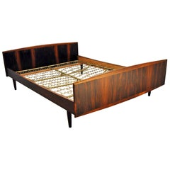 Danish Modern Rosewood Double Bed, 1960s