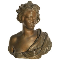 Bronze Bust by Francesco Jerace, circa 1920