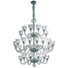 Venini Martinengo Thirty-two-light Chandelier in Crystal
