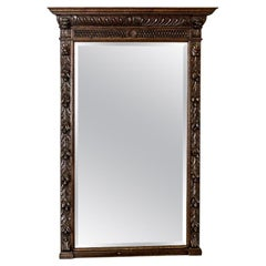 Neo-Renaissance Pier Glass in an Oak Frame, circa 1880