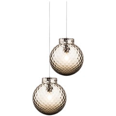 Venini Balloton Lamp in Gray Crystal
