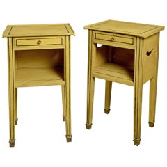 Pair of 19th Century Painted Bedside Tables