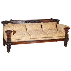 Regency Carved 3-Seater Sofa