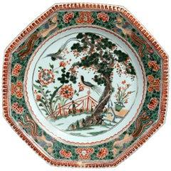 Kangxi Period Famille Verte Porcelain Charger