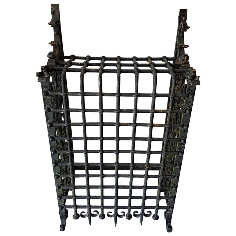 19th Century French Wrought Iron Window Grill or Bars