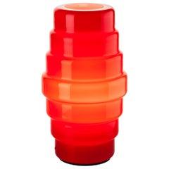 Venini Zoe Small Table Lamp in Red by Doriana & Massimiliano Fuksas