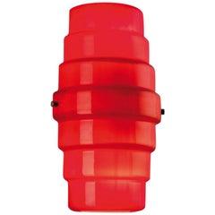 Venini Zoe Applique Wall Light in Red