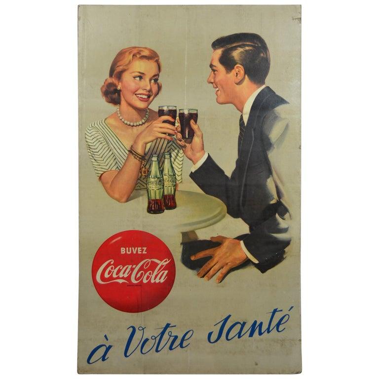 1955 European Coca Cola Store Display Sign