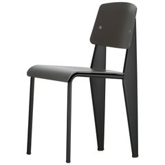 Vitra Standard SP Chair in Basalt and Deep Black by Jean Prouvé