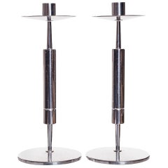 Pair of Silver Candlesticks Attributed to Tommi Parzinger / Dorlyn Silversmiths