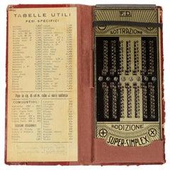 Super-Simplex Calculator Italian Manufacture of the 1920s