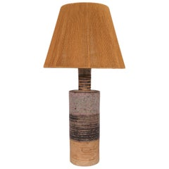 Tue Poulsen Danish Studio Pottery Midcentury Table Lamp, circa 1960s