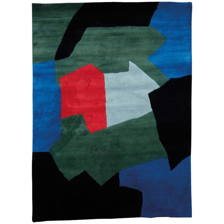 Serge Poliakoff carpet, Blue and Green Composition
