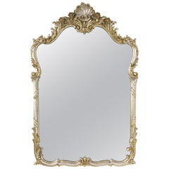 La Barge Silver Giltwood Wall Mirror, Made in Italy, circa 1960s
