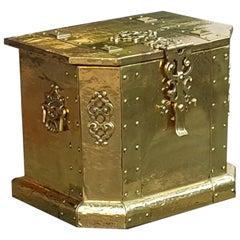 Late Victorian Brass Coal Box
