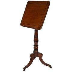 Rare English Regency Period Mahogany Adjustable Reading Table, circa 1820