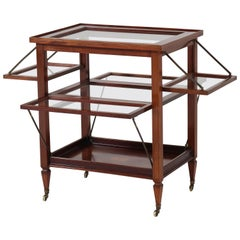 Mahogany Dutch Louis XVI Style Serving Trolley with Inlay, 1920s