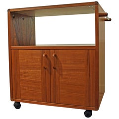 Midcentury Danish Modern Teak Server Tea/Bar Cart