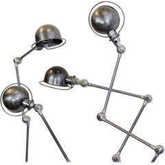 Floor Standing Industrial Lamps by Jean Louis Domecq, circa 1950s