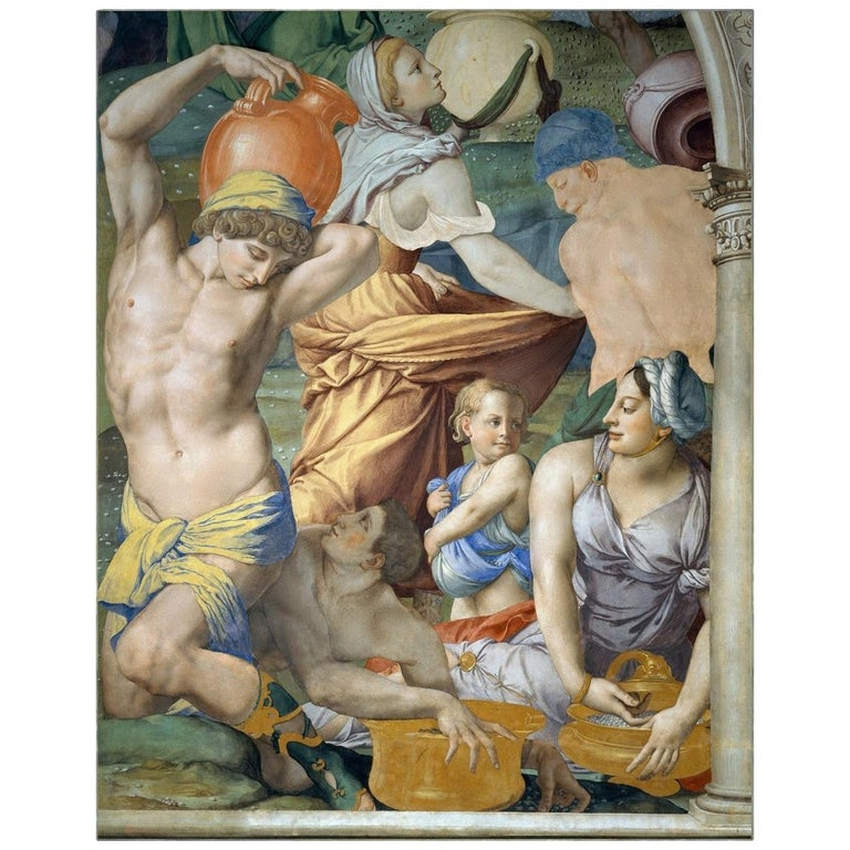 Falling of the Manna, after Renaissance Oil Painting by Agnolo Bronzino