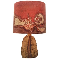 Hand-Painted Ceramic Table Lamp by Marianne, Berlin, 1960