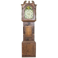 English Grandfather Clock in an Oak Case, circa 1820