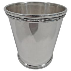 Antique Coin Silver Mint Julep Cup by St Louis Maker Eugene Jaccard